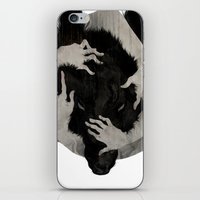 dark iPhone & iPod Skins featuring Wild Dog by Corinne Reid