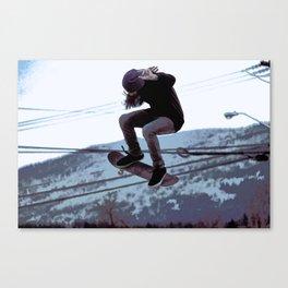 High Flying Skateboarder Canvas Print