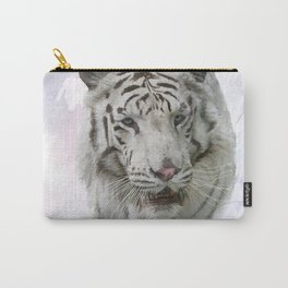 Digital Painting of White Tiger Carry-All Pouch