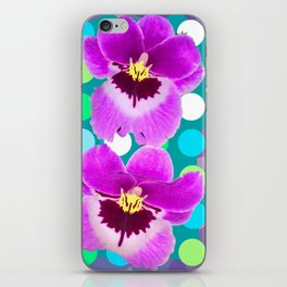 Orchid Spot Collage iPhone Skin