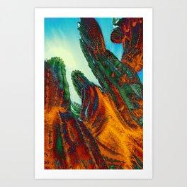 Flame Cactus Art Print