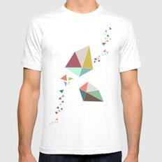 Geome(tri)c White MEDIUM Mens Fitted Tee