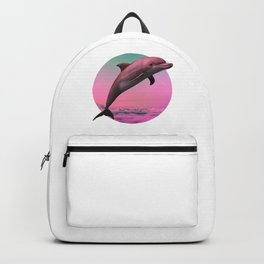Dolphin Vaporwave Gift Aesthetic Seapunk Dolphin funny Gift Backpack