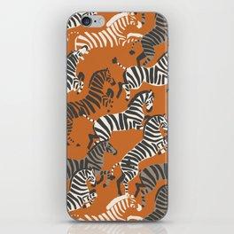 Zebra Race iPhone Skin