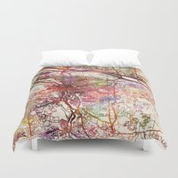 portland Duvet Covers featuring Portland by MapMapMaps.Watercolors