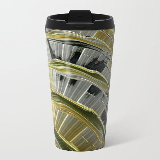 Gold and Diamonds Metal Travel Mug