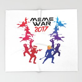 Meme War 2017 Throw Blanket