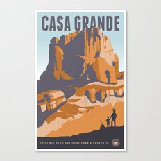 Big Bend Travel Poster Canvas Print