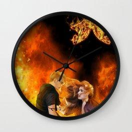 Clace heavenly fire Wall Clock