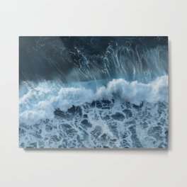sea waves Metal Print
