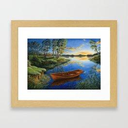 Pine lake Framed Art Print
