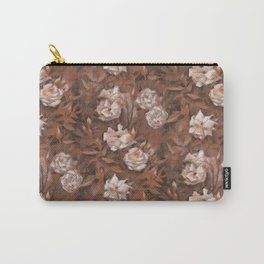 White roses in earth shades Carry-All Pouch