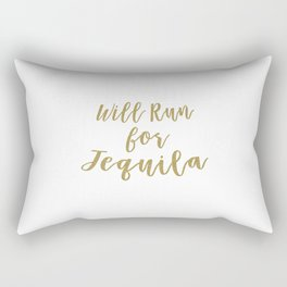 Will Run for Tequila Rectangular Pillow