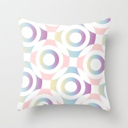 Circle composition in soft pastel colors Throw Pillow