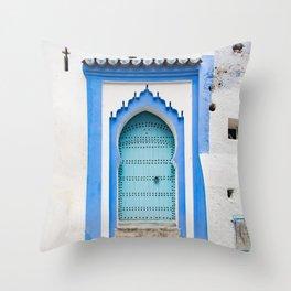 Doors - Chefchaouen, Morocco Throw Pillow