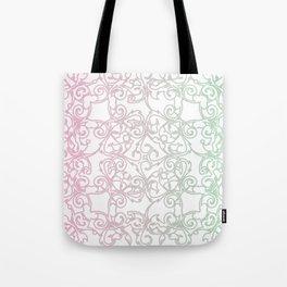 Cotton Candy Fretwork Tote Bag