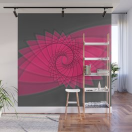 hypnotized - fluid geometrical eye shape Wall Mural