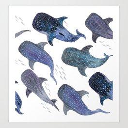 Whale Shark Pattern Party Art Print