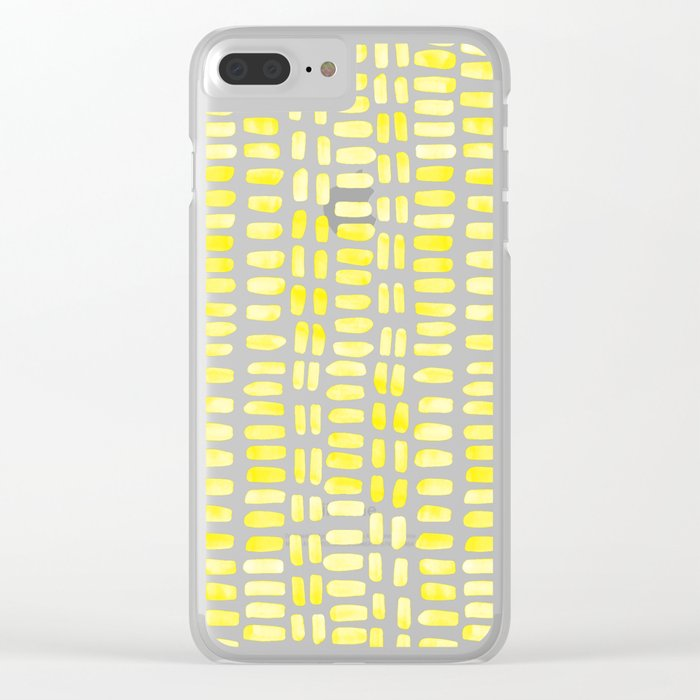 Abstract rectangles - yellow Clear iPhone Case