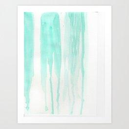 Drip Drop Teal Drop Art Print