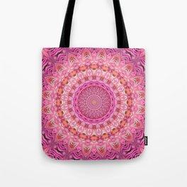 Kaleidoscope Mandala Vibrant Pinks Tote Bag