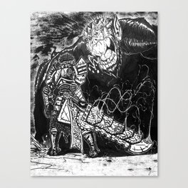The Junkyard Knight Canvas Print