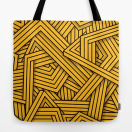 Lines - Yellow Tote Bag