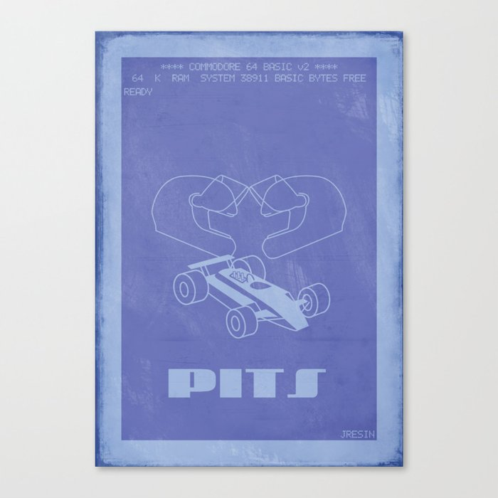 Retrogaming - Pitstop Canvas Print