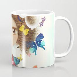 Doll Butterfly Balloons Afro Hair Flowers Coffee Mug