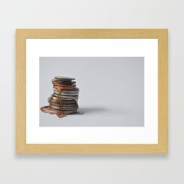 Melting Coins Framed Art Print