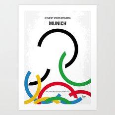 No460 My Munich minimal movie poster Art Print