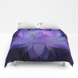 The Lotus in blue... Comforters