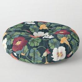 Garden Nasturtium pattern Floor Pillow