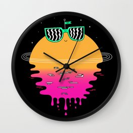 Happy Sunset Wall Clock