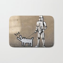 Haring DOG and clone Bath Mat