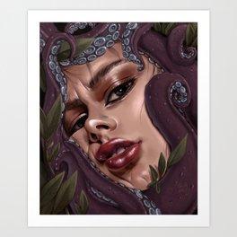 portrait tentacles Art Print