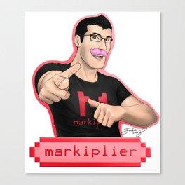Markiplier (Warfstache) Canvas Print