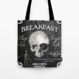 Halloween Decor Dead and Breakfast Tote Bag