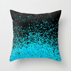 torquoise adventure Throw Pillow