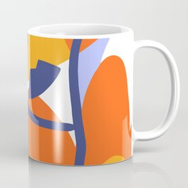 Line Art, Abstract hand free drawing, Framed poster Coffee Mug