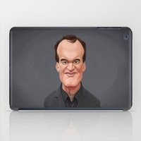 quentin tarantino iPad Cases featuring Celebrity Sunday ~ Quentin Tarantino by rob art | illustration