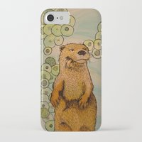otter iPhone & iPod Cases featuring Otter by AlexandraDesCotes