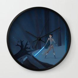 The Dark and The Light Kylo Ren vs Rey Wall Clock
