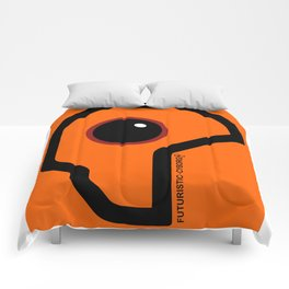 Futuristic Cyborg Logo 7 Comforters