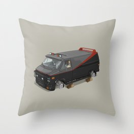 80´s tv and films cars (A team) Throw Pillow