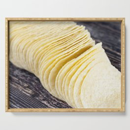 yellow potato chips Serving Tray