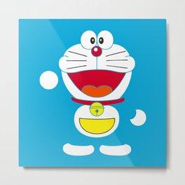 Blue Doraemon Metal Print