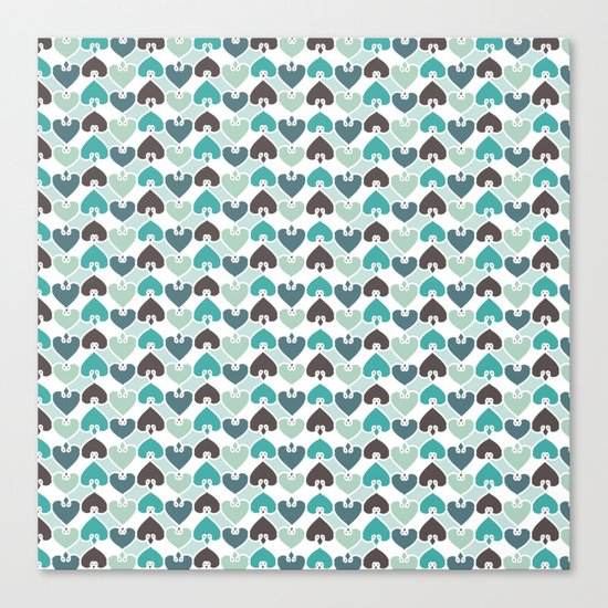 Sea of hearts pattern Canvas Print