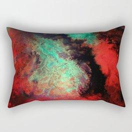 """Original Abstract Painting """"Titan"""" Mixed Media Close Up Photograph Rectangular Pillow"""