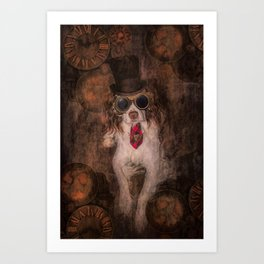 English Springer Spaniel- Steampunk Art Print
